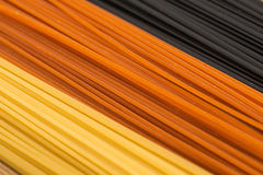 Drie kleurendeegwaren Stock Foto's
