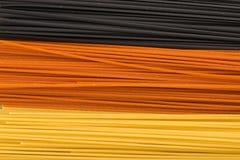 Drie kleurendeegwaren Stock Fotografie