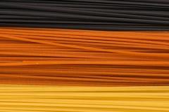 Drie kleurendeegwaren Royalty-vrije Stock Afbeeldingen