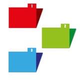 Drie kleurenomslagen Royalty-vrije Stock Afbeeldingen