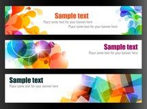 Drie Kleurrijke Banners