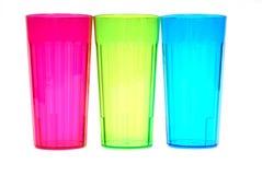 Drie kleurrijke drankglazen royalty-vrije stock afbeelding