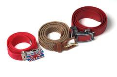 Drie kleurrijke riemen. Royalty-vrije Stock Fotografie
