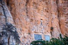 Drie Kloven van het Yangtze-van de de Kloofklip van Rivierqutang de steenexemplaar Royalty-vrije Stock Foto