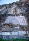 Drie Kloven van het Yangtze-van de de Kloofklip van Rivierqutang de steenexemplaar Royalty-vrije Stock Afbeeldingen