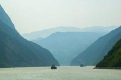 Drie kloven, Yangtze-rivier stock afbeeldingen