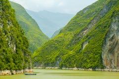 Drie kloven, Yangtze-rivier stock foto