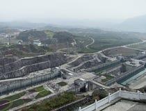 Drie Klovendam bij Yangtze-Rivier royalty-vrije stock foto