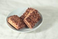 Drie koekjes op een plaat Stock Fotografie