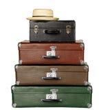 Drie Koffers Stock Afbeeldingen