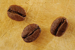 Drie koffieboon Stock Foto