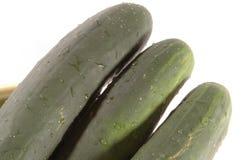 Drie komkommersdiagonaal Stock Afbeelding