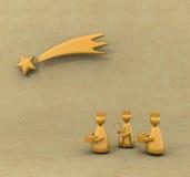 Drie koningen stock illustratie