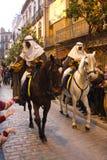 Drie Koningen paraderen in Sevilla, Spanje Stock Afbeeldingen