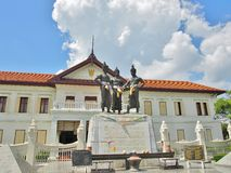 Drie Koningenmonument in Chiang Mai, Thailand Royalty-vrije Stock Fotografie