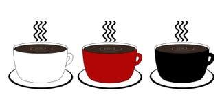 Drie Koppen van de Koffie Royalty-vrije Stock Fotografie