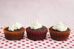 Drie koppencakes Stock Foto