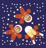 Drie Kosmonauten Stock Foto's