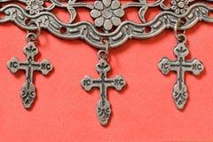 Drie kruisen Royalty-vrije Stock Afbeeldingen