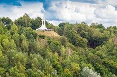 Drie Kruisenmonument in Vilnius Stock Foto
