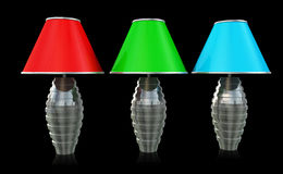 Drie Lampen Stock Foto's