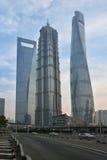 Drie Langste Gebouwen in Shanghai Royalty-vrije Stock Fotografie