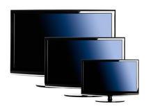 Drie lcd TVâs Royalty-vrije Stock Afbeeldingen