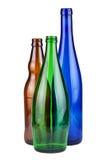 Drie lege flessen royalty-vrije stock foto's