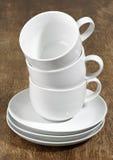 Drie Lege Koppen van de Koffie Royalty-vrije Stock Foto
