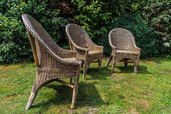 Drie lege stoelen Royalty-vrije Stock Fotografie