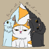 Drie leuke katten stock illustratie