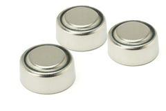 Drie lithiumbatterijen Stock Fotografie