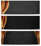 Drie Luxebanners Stock Afbeeldingen
