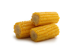 Drie maïskolven stock afbeeldingen