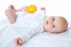 Drie maanden baby Royalty-vrije Stock Afbeelding