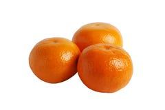 Drie mandarijnen Royalty-vrije Stock Afbeelding