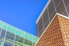 Drie materialen van architecturaal detail royalty-vrije stock fotografie