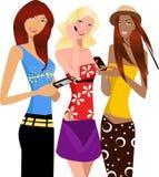 Drie meisjes vector illustratie