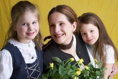 Drie meisjes stock afbeeldingen