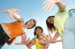 Drie meisjesvriend royalty-vrije stock afbeelding