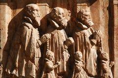 Drie mens het bidden stock afbeelding