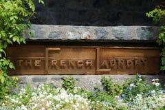 Drie Michelin Stars restaurant de Franse Wasserij in Yountville, Napa-Vallei Royalty-vrije Stock Foto