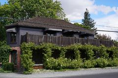 Drie Michelin Stars restaurant de Franse Wasserij in Yountville, Napa-Vallei Royalty-vrije Stock Afbeeldingen