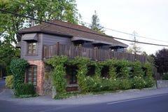 Drie Michelin Stars restaurant de Franse Wasserij in Yountville, Napa-Vallei Stock Fotografie