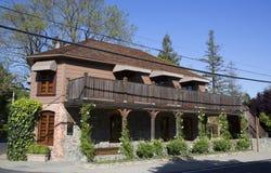 Drie Michelin Stars restaurant Franse Wasserij in Yountville, Napa-Vallei Stock Fotografie