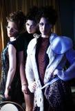 Drie modellen stock foto