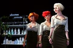 Drie modellen met kapsel door Tim Hartley stock fotografie