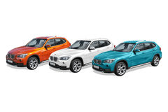 Drie moderne auto's, BMW X1 Royalty-vrije Stock Fotografie