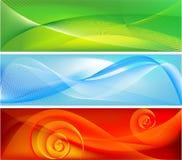 Drie modieuze vectorachtergronden Stock Afbeelding