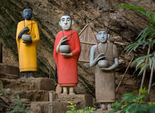 Drie monniken Royalty-vrije Stock Foto